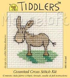Mouseloft Donkey Tiddlers cross stitch kit